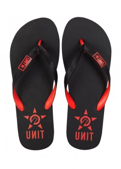 UNIT - BASE FLIP FLOPS BLACK/RED