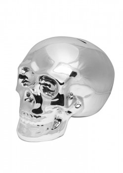 UNIT - SLAVINGS SKULL MONEY BOX SILVER
