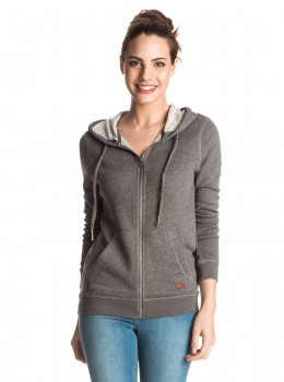 ROXY - SIGNATURE ZIP UP HOODY CHARCOAL HEATHER