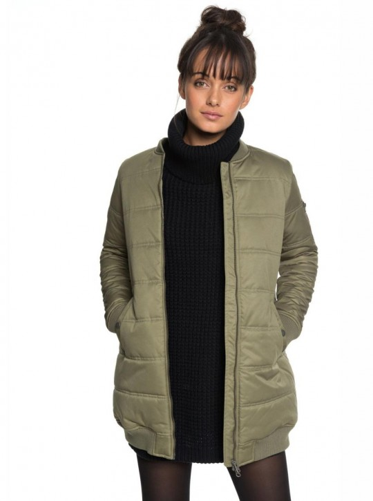 ROXY - FADE OUT PADDED BOMBER JACKET OLIVE