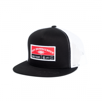 SRH - STICHED TRUCKER HAT BLACK