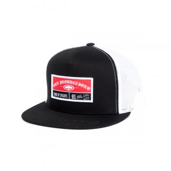 SRH - STICHED TRUCKER HAT BLACK ONE SIZE
