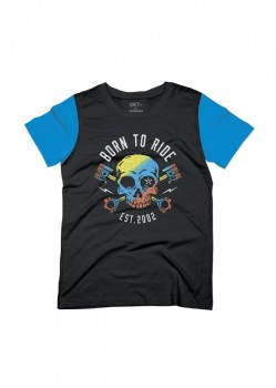 UNIT - YOUTH BORN TO RIDE TEE BLUE