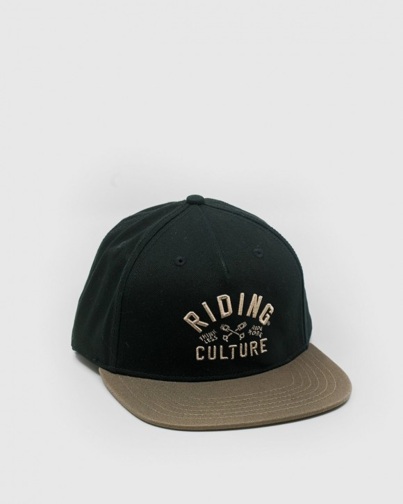RIDING CULTURE - PISTON SNAPBACK BLACK / BEIGE