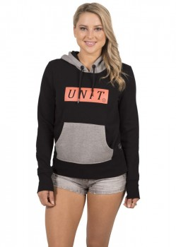 UNIT - ESSENCE LADIES HOODY BLACK