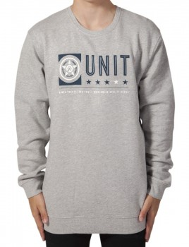 UNIT - FORT CREW NECK SWEATER GREY MARLE