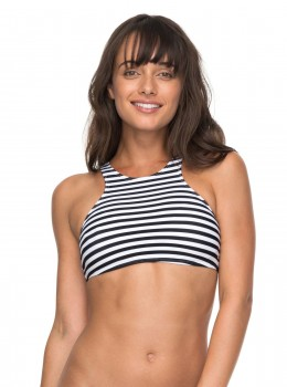 ROXY - ESSENTIALS BIKINI TOP WHITE STRIPE