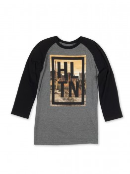 HLTN - DEEP RAGLAN GREY/BLACK XL