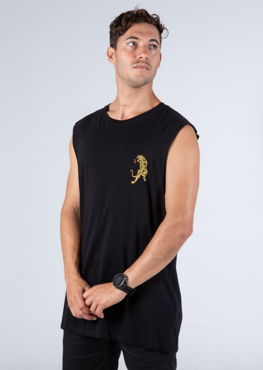 UNIT - ONSLAUGHT MUSCLE TEE BLACK