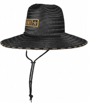 UNIT - TIDE STRAW HAT BLACK