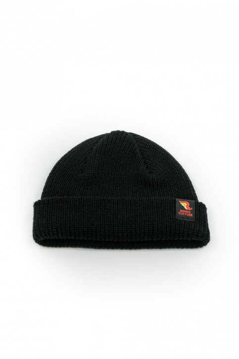 RIDING CULTURE - FISHERMAN BEANIE BLACK