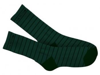 MACBETH - STRIPES CREW SOCKS GREEN