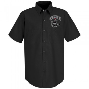 SRH - HOT ROD BUTTON UP BLACK
