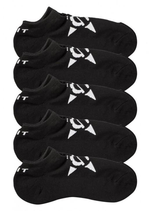 UNIT - NO SHOW SOCKS 5 PACK BLACK