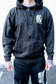 MINDCOLLISION - MC ZIP HOODY BLACK