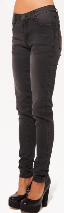 UNIT - MISFIT SUPER SKINNY LEG DENIM JEAN BLACK