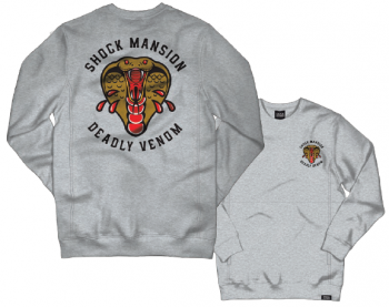 SHOCK MANSION - DEADLY VENOM PULLOVER GREY