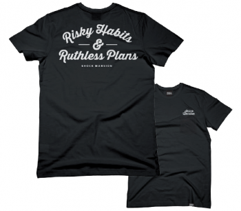 SHOCK MANSION  - RISKY HABITS TEE BLACK