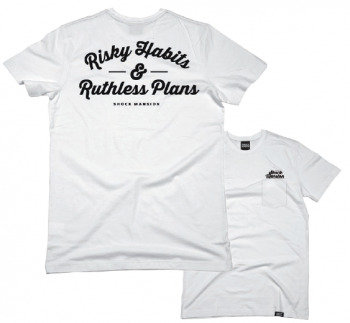 SHOCK MANSION - RISKY HABITS TEE WHITE