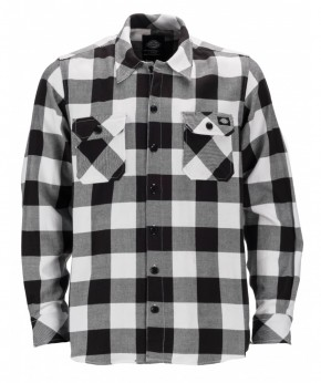 DICKIES - SACRAMENTO FLANNEL BLACK/WHITE
