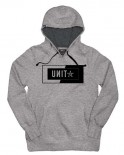 UNIT - INTERLOCK HOODY GREY MARLE
