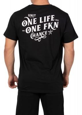 UNIT - ONE LIFE TEE BLACK