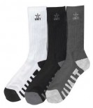 UNIT - CRANK SOCKS 3 PACK MULTI