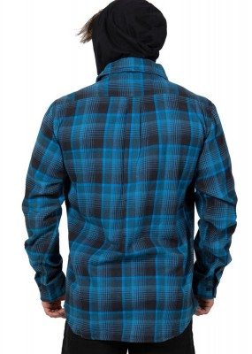 UNIT - CHESTER HOODED FLANNEL BLUE