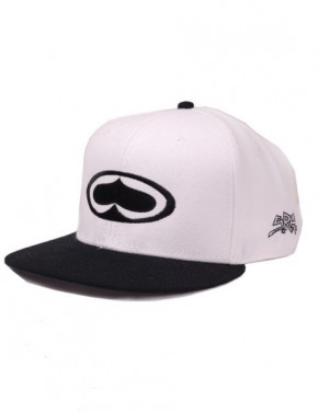 SRH - STANDARD SNAP BACK HAT WHITE/BLACK