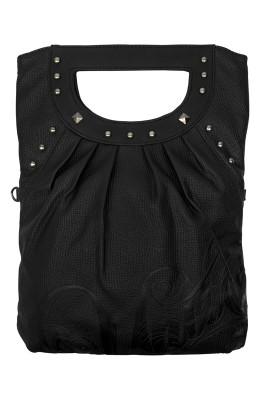 UNIT - ALLUDE SHOULDER BAG BLACK