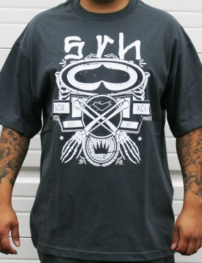 SRH - STRONG POWER S/S TEE CHARCOAL