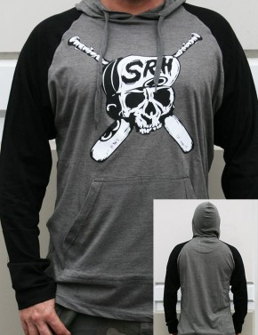 SRH - BATTLE AXE HOODED RAGLAN GREY/BLK