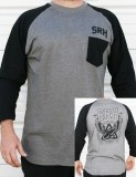 SRH - BADGE 3/4 RAGLAN GREY/BLACK