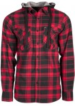 UNIT - COMRADE HOODED FLANNEL RED