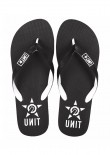 UNIT - BASE FLIP FLOPS BLACK/WHITE