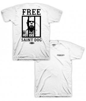 SRH - FREE SAINT DOG SHIRT WHITE