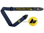 MACBETH - SCRIBBLE GUITAR STRAP MIDNIGHT OCHRE