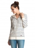 ROXY - SIGNATURE STRIPE ZIP HOODY WHITE