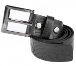 UNIT - SURGE LEATHER BELT BLACK