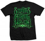 SRH - GREEN FLASH TEE BLACK