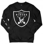 UNIT - RIDERS CREW SWEATER BLACK