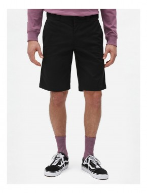 DICKIES - SLIM STRAIGHT FLEX SHORT BLACK