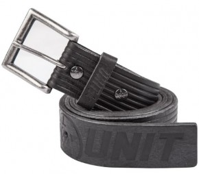 UNIT - HORIZON LEATHER BELT BLACK