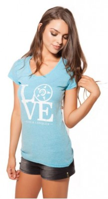 UNIT - LOVE TEE AQUA BLUE MARLE