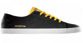 MACBETH - ADAMS BLACK-OCHRE CANVAS/SYNTHETIC SUED SHOE