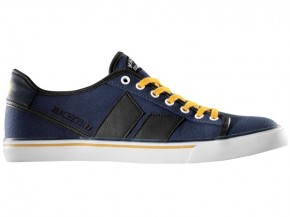 MACBETH - JAMES MIDNIGHT-OCHRE CANVAS SYNTHETIC LEATHER