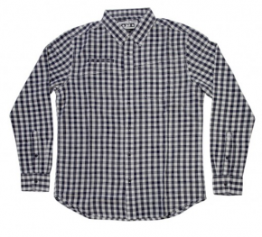 MACBETH - BARKER WOVEN SHIRT NAVY