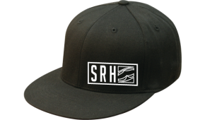 SRH - GARNET FLATBILL FLEXFIT HAT BLACK