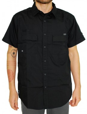 UNIT - BESEIGE S/S SHIRT BLACK