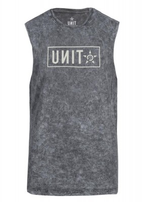 UNIT - STAND MUSCLE TEE ACID BLACK